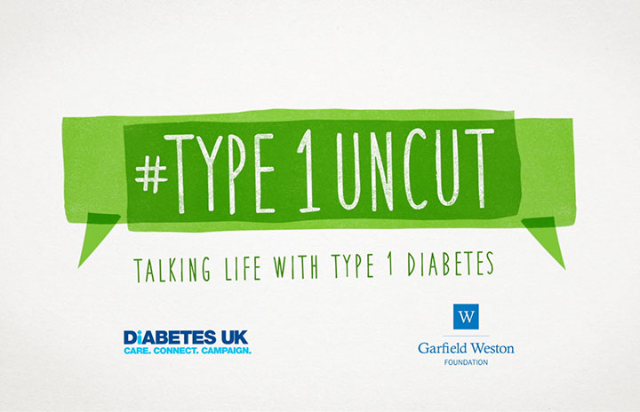 Diabetes UK #Type1Uncut branding