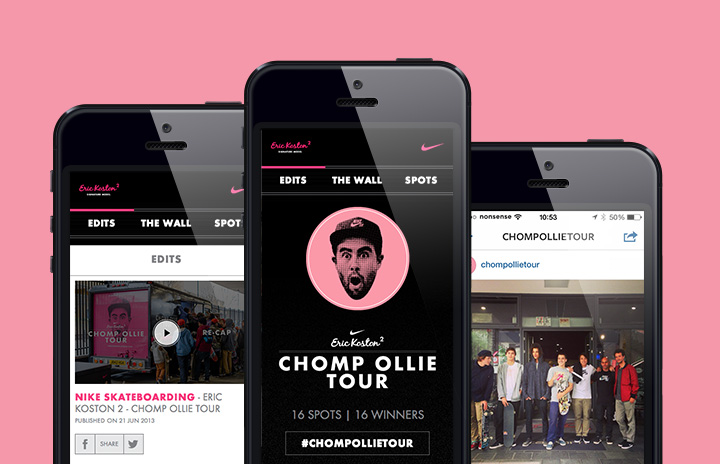 Nike Chomp Ollie Tour on mobile devices